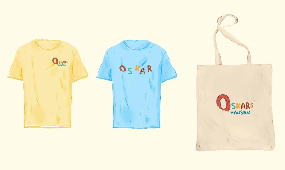 T-Shirt und Beutel mit Logo