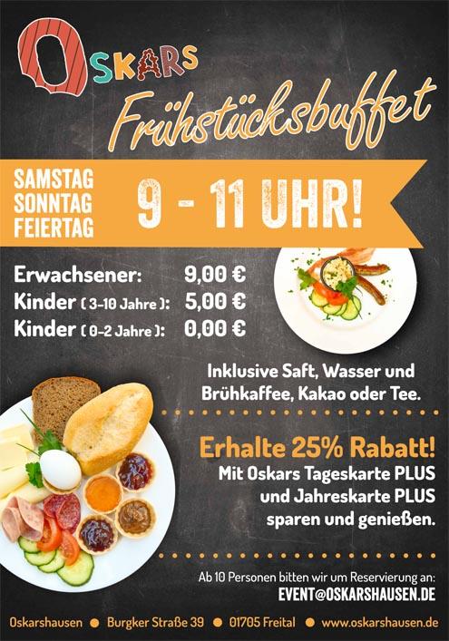 Frühstücksbuffet in Oskarshausen