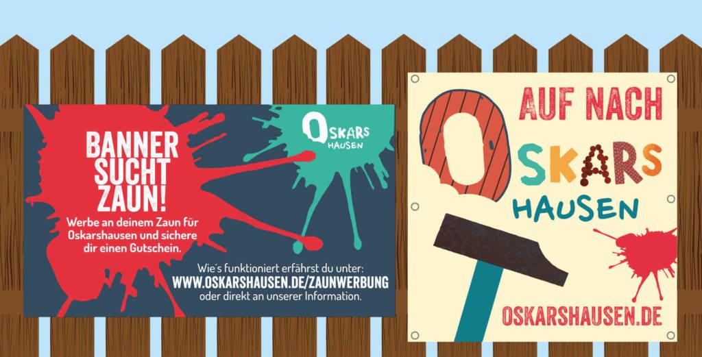 Oskarshausen sucht Deinen Zaun für unsere Banner.