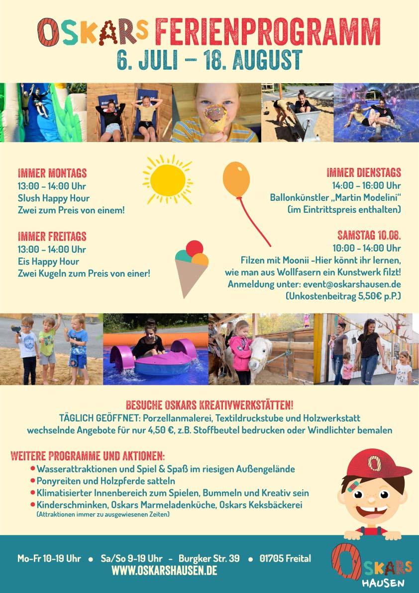 Sommerferien in Oskarshausen verbringen, mit tollen Aktionen - täglich geöffnet!