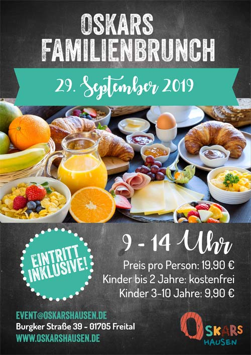 Oskars Familienbrunch am 29. September 2019