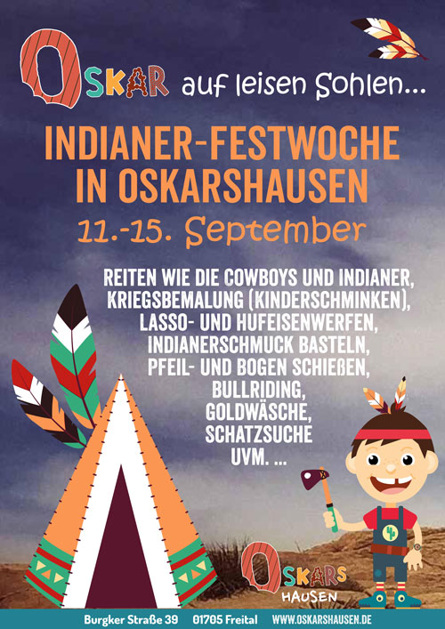 Oskars Indianerwoche im September