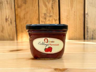 Oskars hausgemachte Lieblingsmarmelade mit fruchtigem Erdbeergeschmack