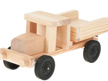 Einfach herzustellender Lastwagen mit Kipp-Ladefläche.