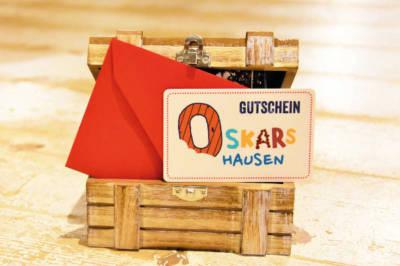 Beschenke Freunde, Familie und Verwandte mit Oskars Geschenkgutschein.