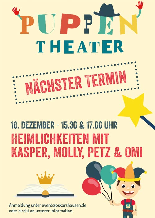 Puppentheater in Oskarshausen im Dezember 2019