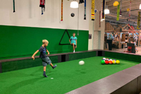 Fussballbillard in Oskarshausen zum Kindergeburtstag Dresden
