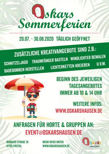 Oskars Sommerferienprogramm –  20.07. – 30.08.2020