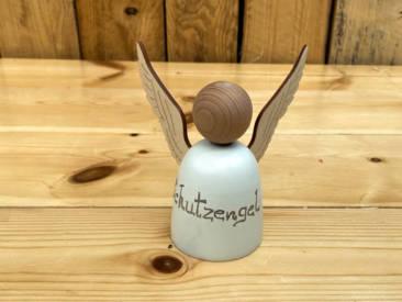 Großer Engel aus Holz zum Zusammenstecken und Bemalen.
