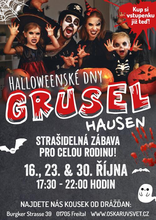 Halloweenské dny Gruselhausen 2021 v zábavním parku Oskarshausen